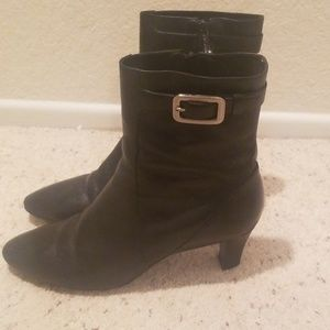 Cole Haan Leather Nike Air Ankle Boots